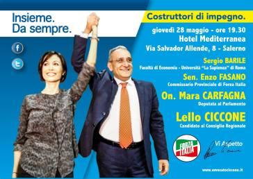 """""""Costruttori di impegno"""", Ciccone al Mediterranea Hotel con la Carfagna"""